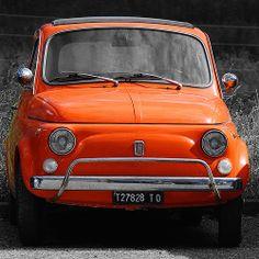 Fiat 500 orange in Torino   #Fiat500