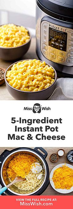 Instant Pot Mac And Cheese - Easy, Recipe - Miss WishYou can find Easy instant pot dinner recipes an.Creamy Instant Pot Mac And Cheese - Easy, Recipe - Miss WishYou can find Easy instant pot dinner recipes an. Best Instant Pot Recipe, Instant Recipes, Instant Pot Dinner Recipes, Kraft Dinner Recipes, Instant Pot Mac And Cheese Recipe, Instant Pot Pressure Cooker, Pressure Cooker Recipes, Cheese Recipes, Cooking Recipes