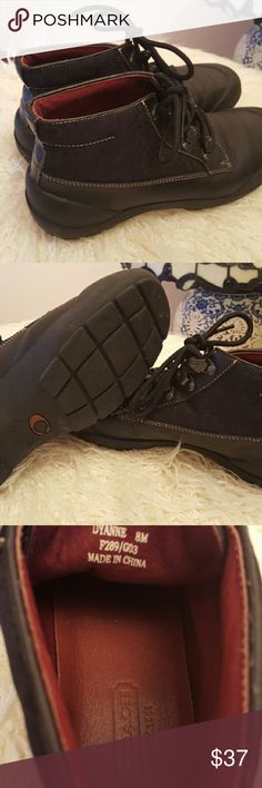 Coach booties Great condition, black C's and leather. Great for winter. Coach Shoes Ankle Boots & Booties