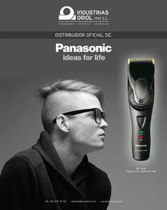 SOMOS DISTRIBUIDORES OFICIALES DE PANASONIC. No te pierdas nuestra extensa gama de máquinas de corte y retoque de la mejor calidad. Panasonic ideas for life http://www.eurostil.com/es/productos/articulos-electricos/maquinas-corte-barba--vello---