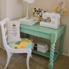 finally finding some time to sew.  getting ready to set up a sewing nook in my room.  love this!