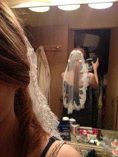 DIY a Lace-Edge Veil