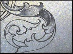 Sam Alfano's Tips & Tricks for Hand Engravers - Leaf Script - Letter D Engraving Tools, Metal Engraving, Gravure Metal, Scroll Pattern, Silver Work, Filigree Design, Leather Pattern, Scroll Design, Wood Carving