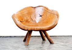 Poltrona Urubutiaga - Para sentar -  Hugo França Madeira Pequi e aço 86 x 107 x 90 cm