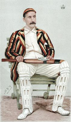 Just how a gentleman ought to be dressed. When playing Cricket or at any other time, come to think of it.