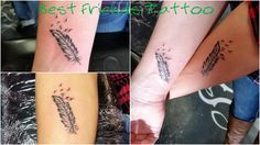 #bestfriends #tattoo #feather #birds #blackandgrey #stusio13tattoomg