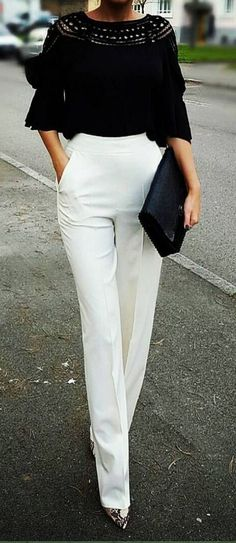 high waisted wide leg trousers.