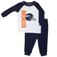 Denver Broncos Toddler 2-Piece Thermal Pajamas - White. Denver Broncos Pro  Shop b43a1bf09