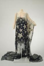 Art Nouveau dress with stars.