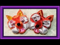 Small animals for the children with their own hands. Crafts for detey.Podelka fox ribbons. - YouTube