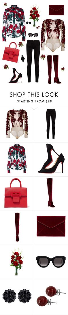 """""""wearable flowers (:"""" by acrawford724 ❤ liked on Polyvore featuring Amen, Gucci, Adam Selman, Christian Louboutin, Maison Margiela, Jeffrey Campbell, Rebecca Minkoff, Nearly Natural, Muse and Simone Rocha"""