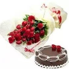 Delightful Choco, Flowers Combo