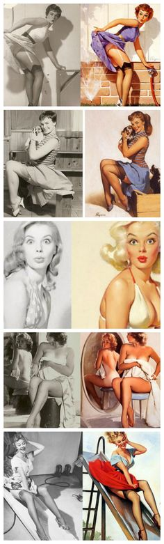This Is What Pin-Up Girls Actually Looked Like In Real Life. This is like the Photoshop of the 50s.