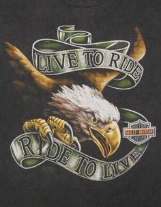 Vintage 90s 3D Emblem HARLEY DAVIDSON Live To Ride TRUCKERS ONLY T-Shirt L G2