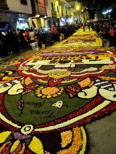 Durante la semana Santa en Tarma, el suelo es una flor