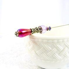 HAT PIN womens accessory lavender plum hat by GaffneyGirlStudio