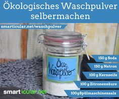 Ökologisches Waschpulver aus eigener Herstellung