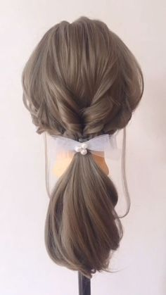 Stylish best hairstyle with braid you can wear any time easy braids hairstyles for medium hair quick - You are in the right place about diy crafts Here we offer you the most beautiful pictures about th - Easy Hairstyles For Medium Hair, Cool Braid Hairstyles, Pretty Hairstyles, Medium Hair Styles, Wedding Hairstyles, Long Hair Styles, Step Hairstyle, Hairstyle Tutorials, Ponytails For Short Hair