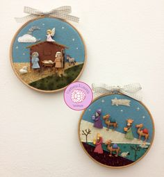 #Decoración #Navidad, #ideas para #regalos, #patchwork #handmade #costura #creativa #nacimiento #belén #ReyesMagos Nativity Crafts, Christmas Projects, Felt Crafts, Christmas Crafts, Christmas Decorations, Christmas Sewing, Felt Christmas, Christmas Embroidery Patterns, Christmas Nativity Scene