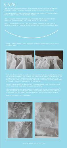 elsa dress tutorial step by step 4 (the cape)