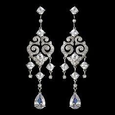 Elegant Vintage Cubic Zirconia Earrings E 1633