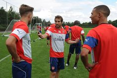 Pictures: First team return to training | News Archive | News | Arsenal.com