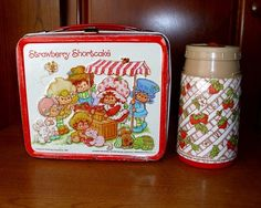 strawberry shortcake lunch box and thermos