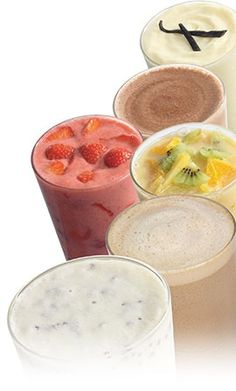 "Original pin said: ""5 Weight Watchers Smoothies"".  They're actually Herbalife smoothies."