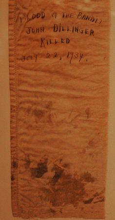 National Museum of Crime and Punishmen - John Dillinger's blood