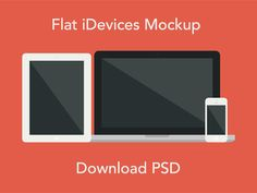 Flat iDevices Mockup PSD