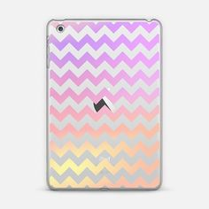 Fruity Cotton Candy Chevron Transparent iPad Mini Case by Organic Saturation | Casetify. Get $10 off using code: 53ZPEA