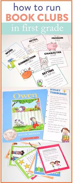 Looking for how to start book clubs in your first or second grade classroom? These activities and lessons will get your students ready to engage in book talks and let them independently discuss what they are reading! Tons of fun ideas to implement over on the post!