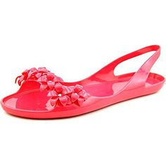 e10eb81a7cebc Nine West Womens Swirley Synthetic Jelly Sandal Pink 9 M US    Click on the