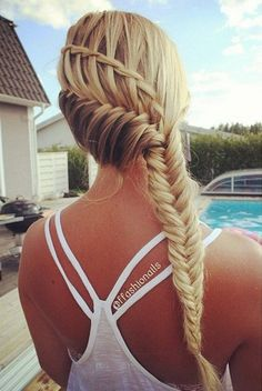 fishtail braid combo hairstyle bmodish