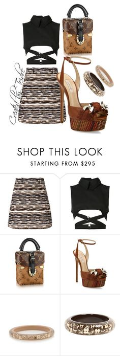 """Untitled #394"" by lovelyladylateidre ❤ liked on Polyvore featuring Carven, Ann Demeulemeester, Casadei and Louis Vuitton"
