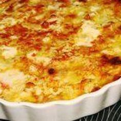 Crab meat casserole. I would add pasta to make this a crab Mac and cheese