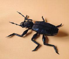 Lego built beetle made by Olga Rodinova (Ольга Родионова) (131323010@N07 on Flickr) and featured on Brothers-Brick.com