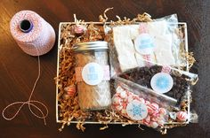 Hot Cocoa marshmallow gift package