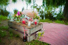 Un mariage guinguette on pinterest mariage rouge and - Deco table guinguette ...