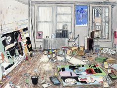 Basquiat's Studio (Crosby St/New York, 1983) by Damian Elwes