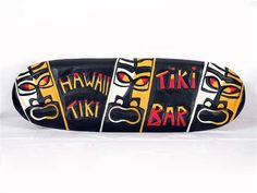 "POP TIKI CULTURE ""TIKI BAR"" SIGN - 24"" - TIKI BAR DECOR  Sku: DPT5077    Normally Ships Within 1-2 Days.    Here is a cool POP TIKI CULTURE hand made Tiki bar sign ""TIKI BAR"", each letter of Tiki Bar and Tiki faces have been hand carved and hand painted to great detail. Size: 24"" X 8""     Perfect for your home decoration, Tiki bar or your outdoor living area!  www.makanahut.com"