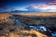 james appleton/barcroft | Looking across towards Snaefellsness from Kolbeinstadir, NW Iceland.