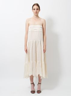 Chloé by Phoebe Philo Slip Dress Silk Slip, Satin Slip, Dress Skirt, Lace Dress, Pump Sneakers, Phoebe Philo, Dress Outfits, Dresses, Clothing Items