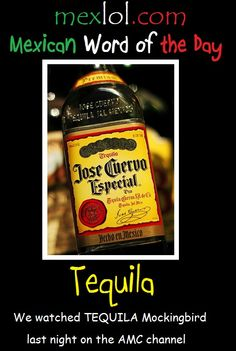 Mexican word of the day ~ Tequila