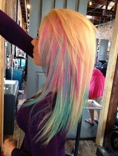 59 ideas hair color pink highlights blue streaks - All For Hair Color Balayage Pink Blonde Hair, Blonde Hair With Highlights, Hair Color Pink, Hair Color For Black Hair, Hair Color Balayage, Pastel Hair, Blonde Color, Cool Hair Color, Pink Highlights