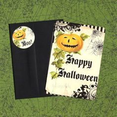 Halloween Cards & Stickers Pumpkin Jack Greeting by luvcrystals, $5.95