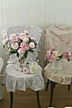 Slipcovered chairs - like girls in summer dresses
