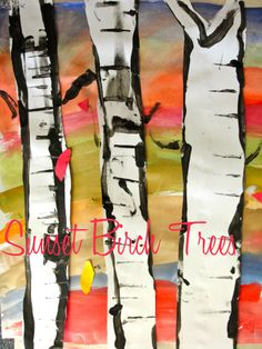 The year's best lessons from deep space sparkle birch tree art project