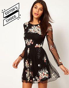 $40.50 ASOS Skater Dress With Embellishment