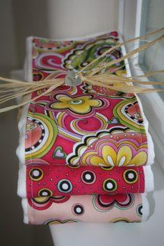 Burp Cloths...love how this is done for a gift!